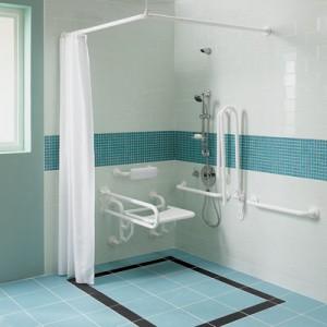 łazienka z grzejnikiem