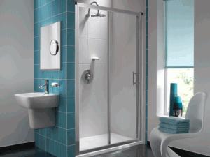 prysznic w ciepłej łazience