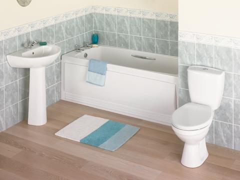 Skromna łazienka dla gości
