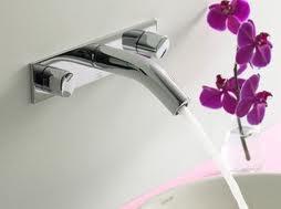 Piękny storczyk w łazience